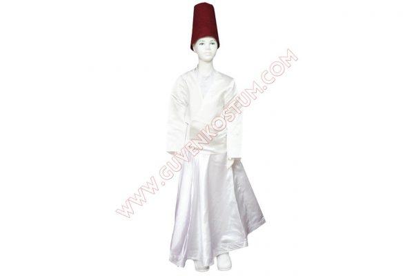 Semazen Kostümü Beyaz